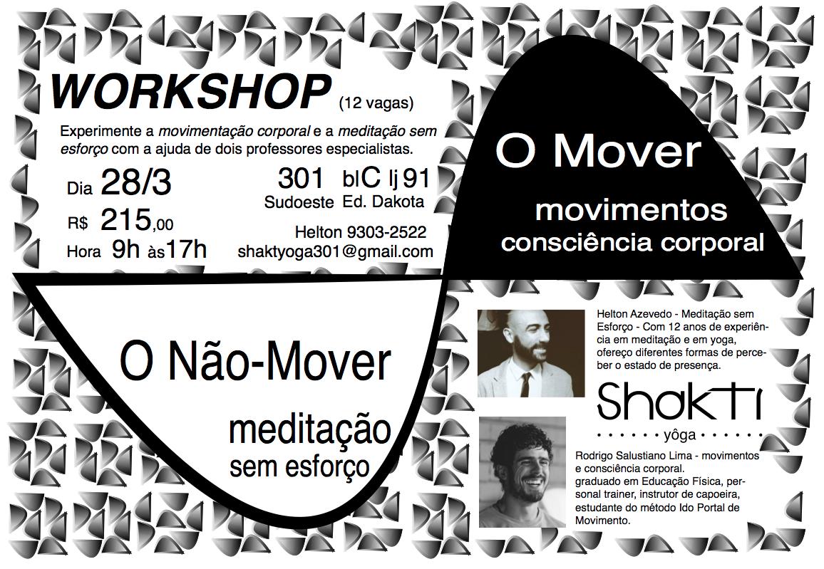 O Movimento e a Meditação Workshop prático.